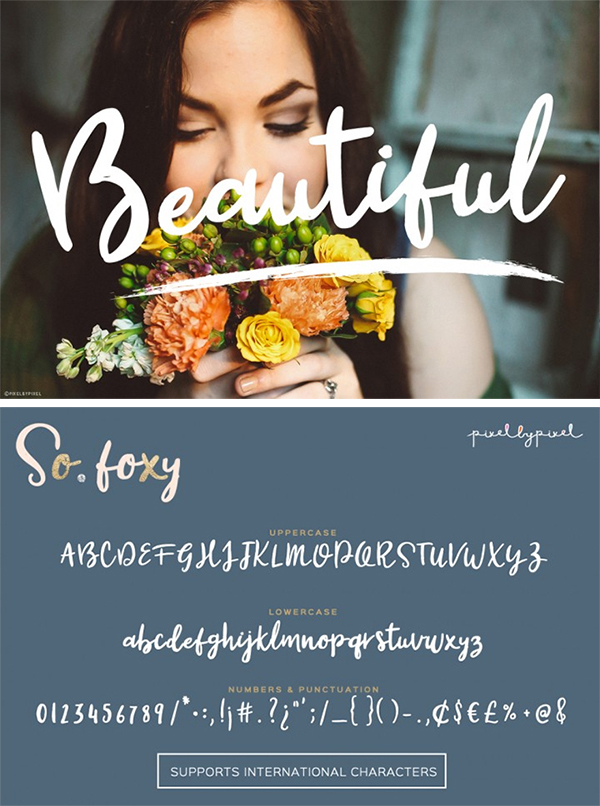 Awesome So Foxy Free Font