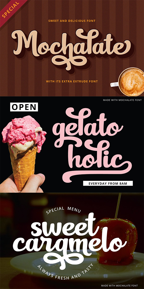 Mochalate | Sweet & Delicious Font