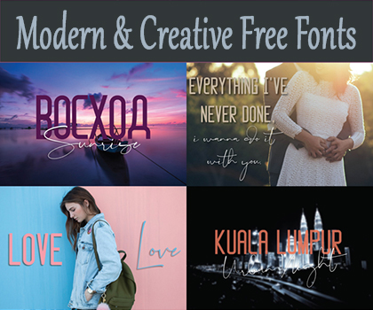 Post thumbnail of Freebie : Modern & Creative Free Fonts For Designers