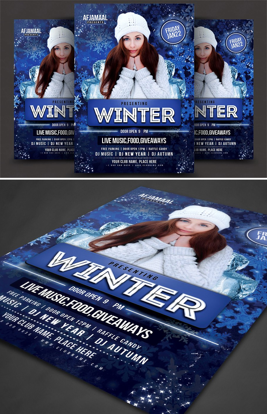 Winter Bash Flyer Template