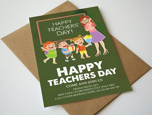 Happy Teachers Day Flyer Template