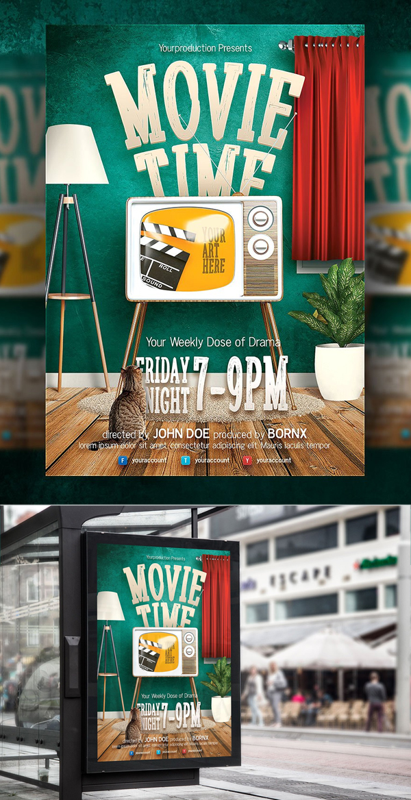 Movie Time Flyer Template