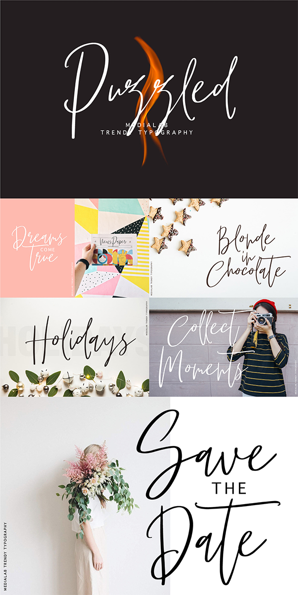 Puzzled - Trendy Script Free Font