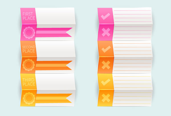 Create Your Own Folded Prize Tag Vectors