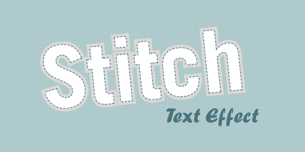 Stitched Text Effect