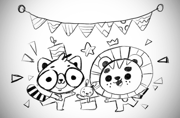 Illustration: Create an Animal Party Scene