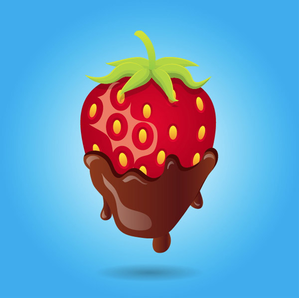 Valentine's Day Sweets! Chocolate Covered Strawberry Vector