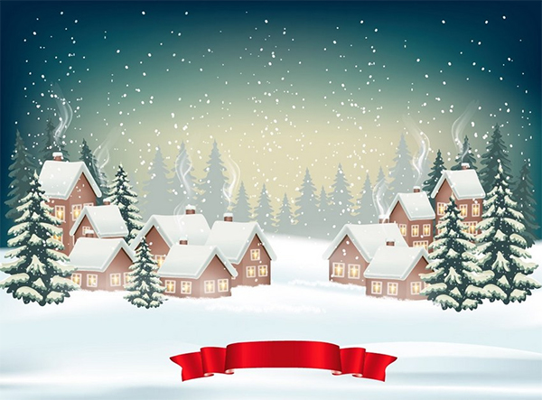 How to Create a Christmas Winter Background