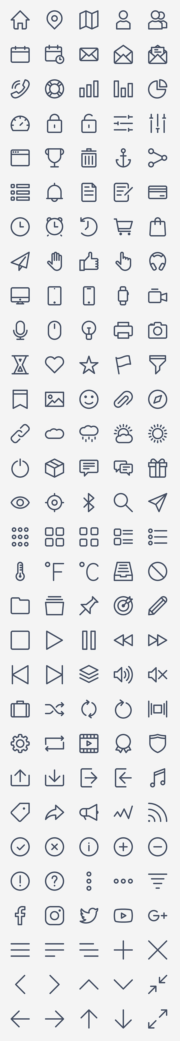Free Basic Icon Set