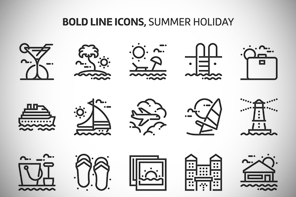 Summer Holiday Icons Collection