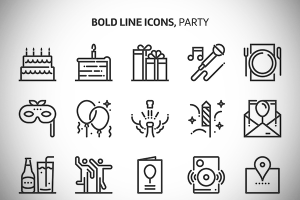 Party Event Icons