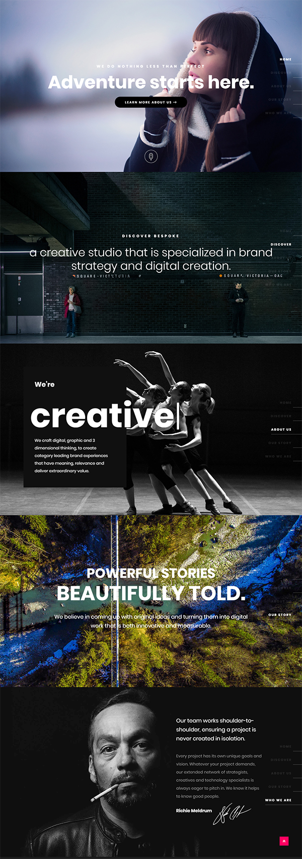 Bespoke - Onepage Creative WordPress Theme