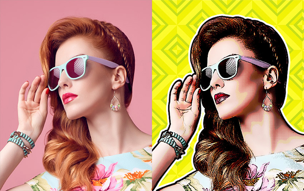How to Make a Retro Comic Book Portrait Effect Action in Photoshop