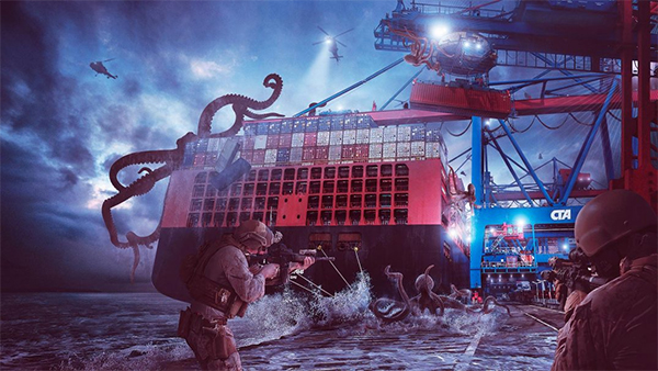 Create Epic Kraken Attack Scene in Photoshop