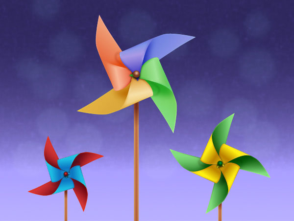 Create the Colorful Pinwheels in Adobe Illustrator