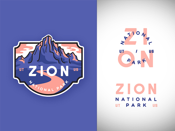 Zion National Park Logo Design