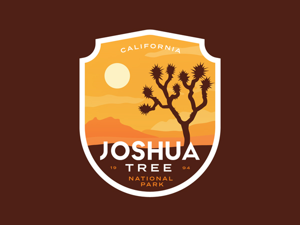 Joshua Tree Badge Logo Design