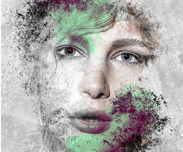 How to Make Creative Photo Art With Paint and Grunge Brushes in Photoshop