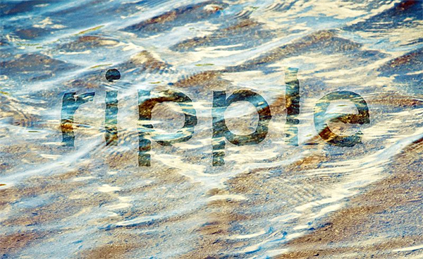 How to Create In-Water Text Effect with Displacement Maps in Photoshop