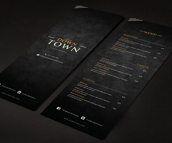 Freebie : Restaurant Menu Psd