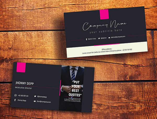 District Business Card Templates