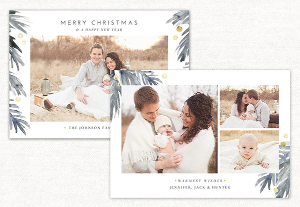 Christmas Card Template Holidays