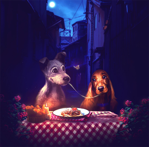 How to Create a Lady and the Tramp Photo Manipulation