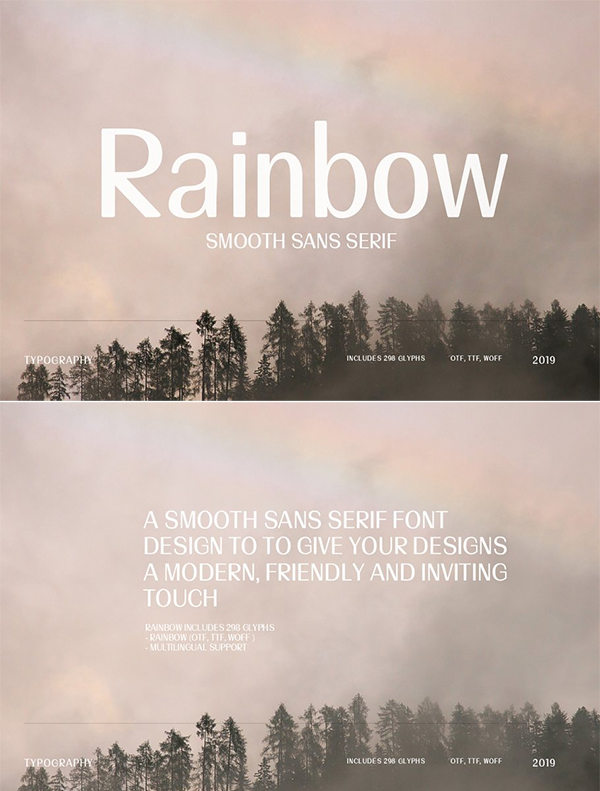 Rainbow | Smooth Sans Serif