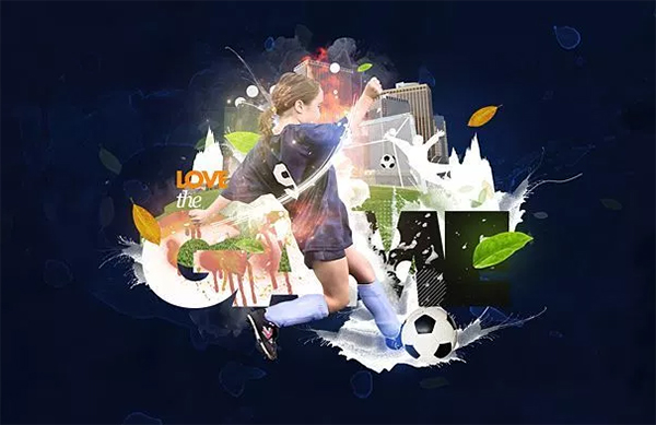Create a Sports Wallpaper with Splatter Effects