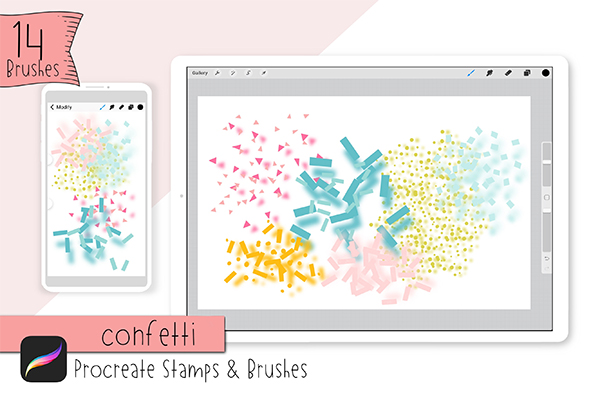 Confetti Stamps & Brushes By Jande Summer