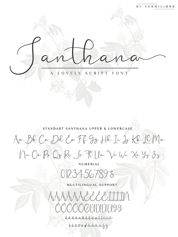 Santhana lovely script By Vermilione