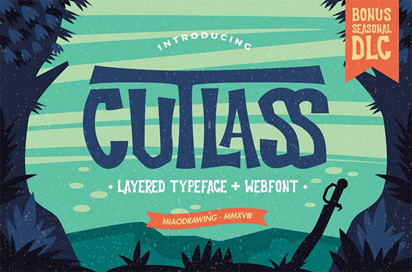 Cutlass Typeface By MIAODRAWING