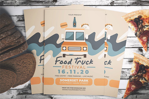 Food Truck Fest Flyer By MIAODRAWING