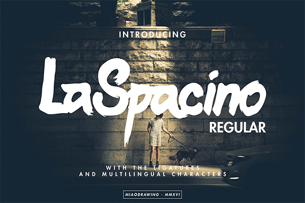 LaSpacino Typeface By MIAODRAWING