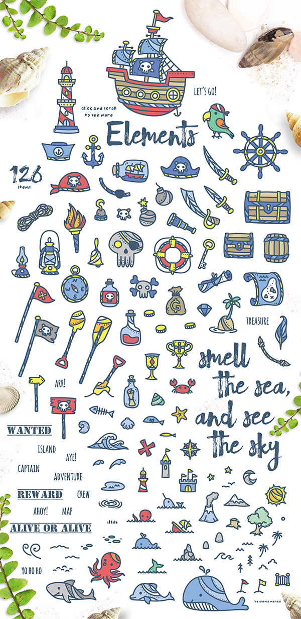 Captain Ahoy – Summer Illustrations By Euonia Meraki