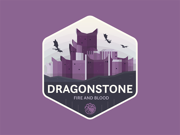 Dragonstone Badge Logo Design