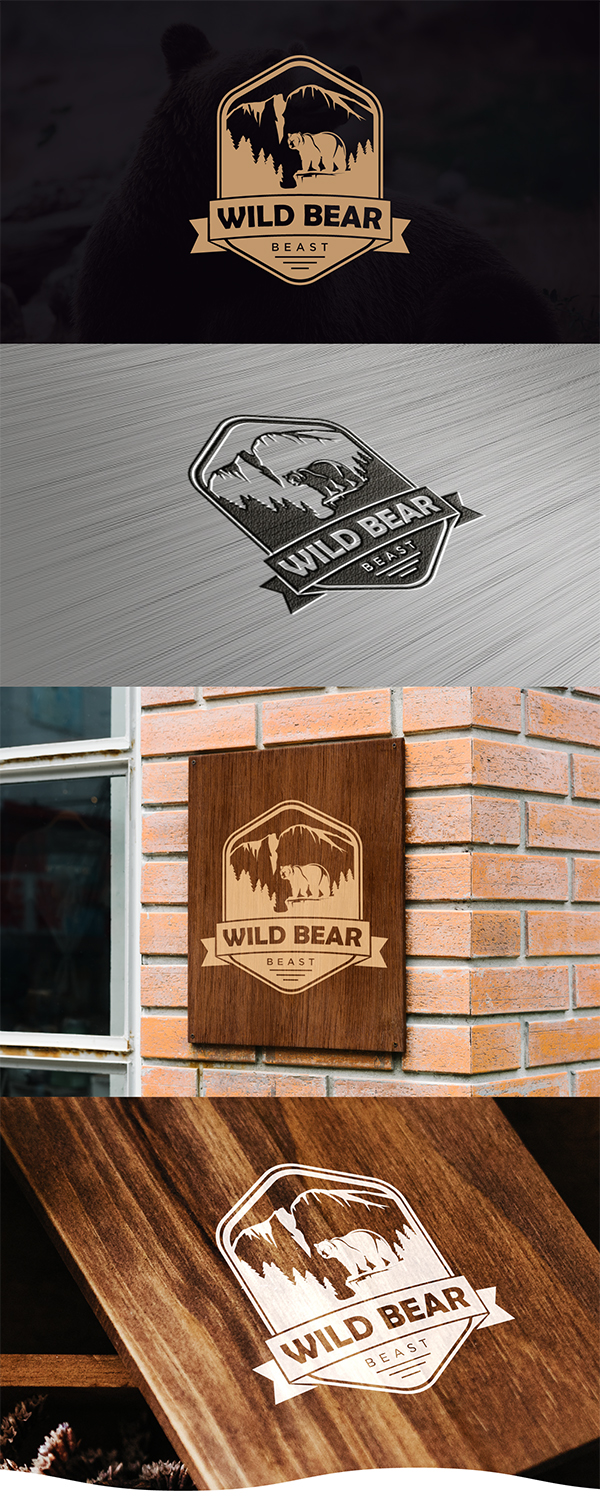 Wild Bear Logo design