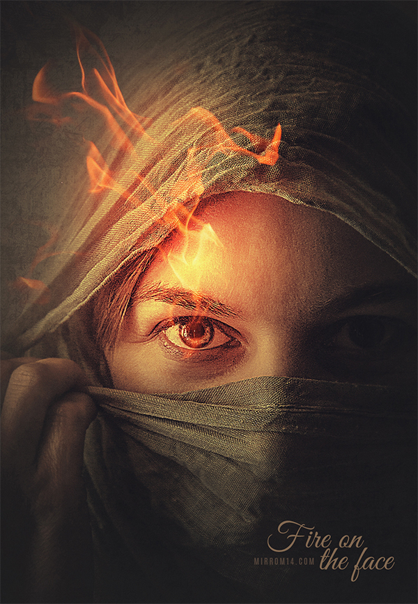 How To Create A Fire on The Face Portrait Photo Effect Using Photoshop