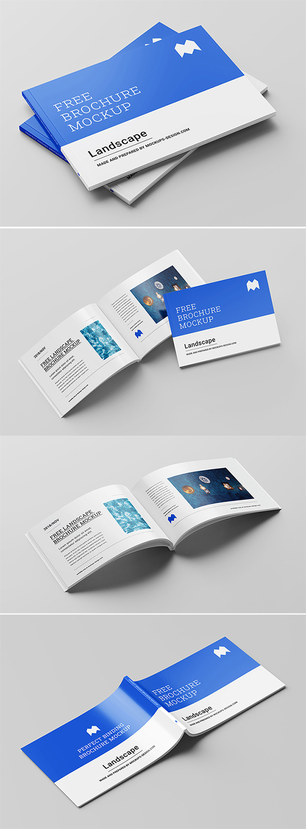 Free Download Perfect Landscape Brochure PSD Mockup