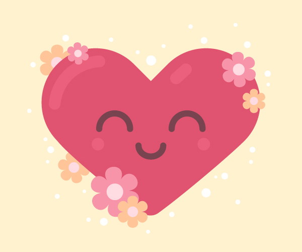 How to Draw a Smiling Heart for St. Valentine's Day in Adobe Illustrator