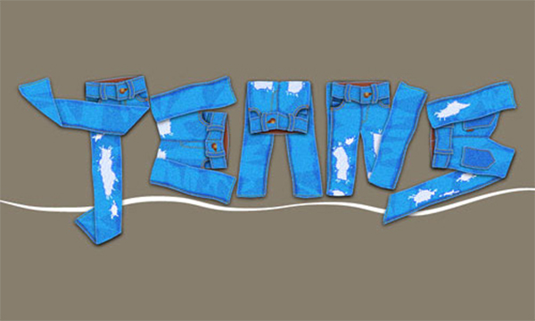 Illustrator Tutorial: Create A Jeans Text Effect