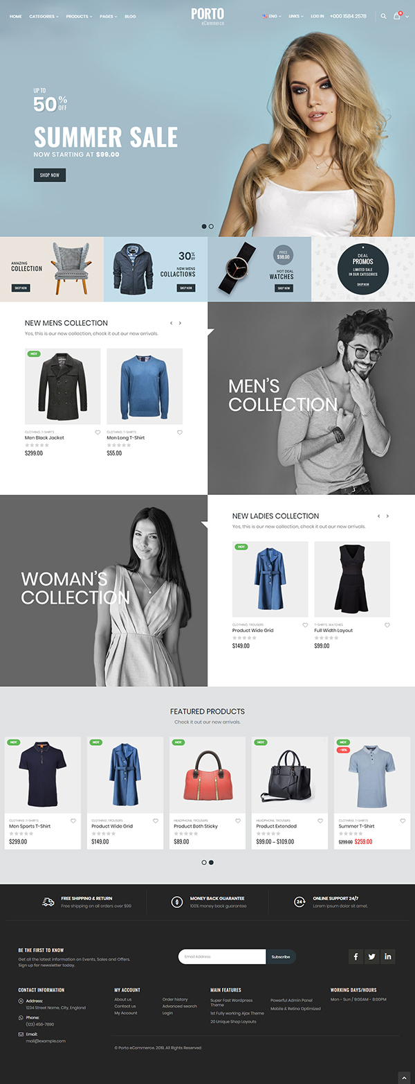 Postage - multipurpose and WooCommerce theme