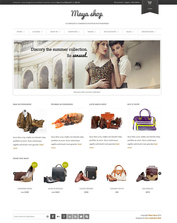 MayaShop - A flexible responsive e-commerce theme