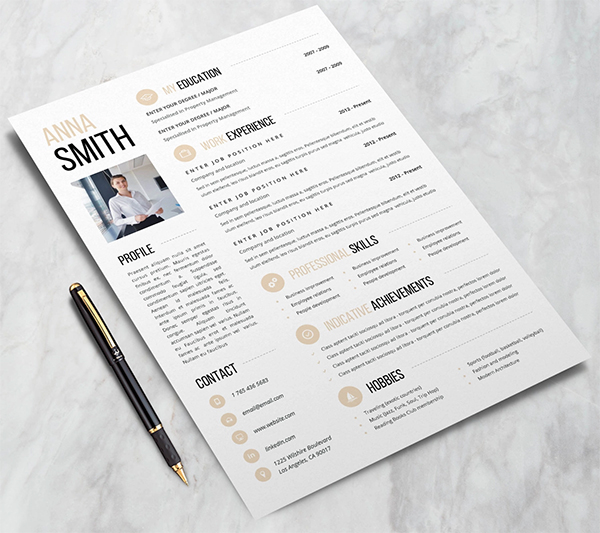 Free Attractive Resume Template