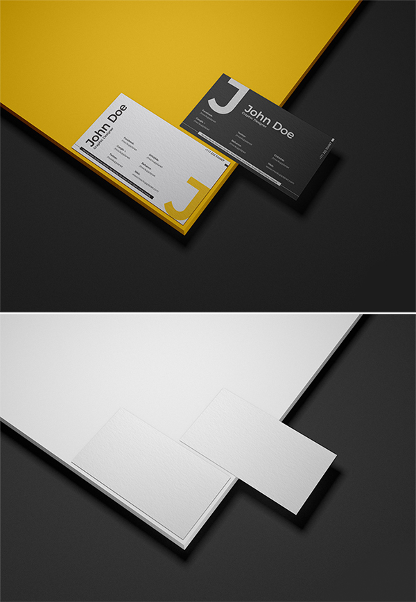 Free Download Attractive Business Cards Mockup (PSD)