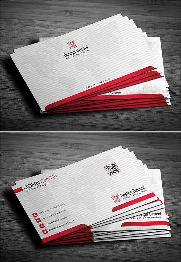 Free Download Attractive Fresh Business Card PSD Template Design