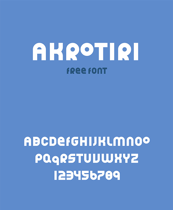 Akrotiri Display Free Font