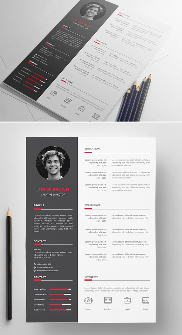 Free Download Modern Resume Template / CV Template