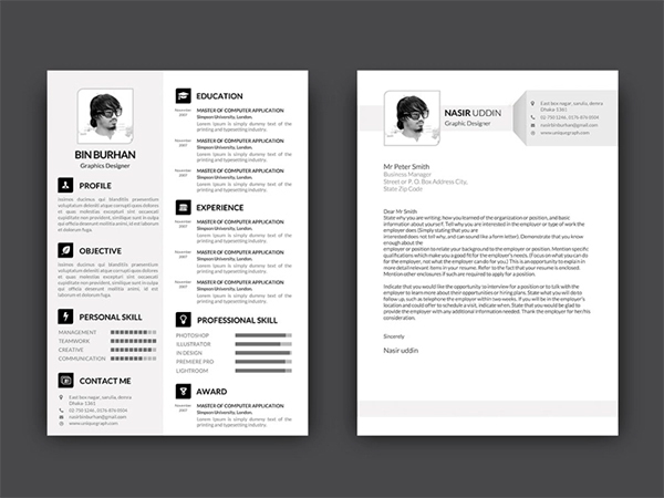 Free Resume Template with Matching Cover Letter