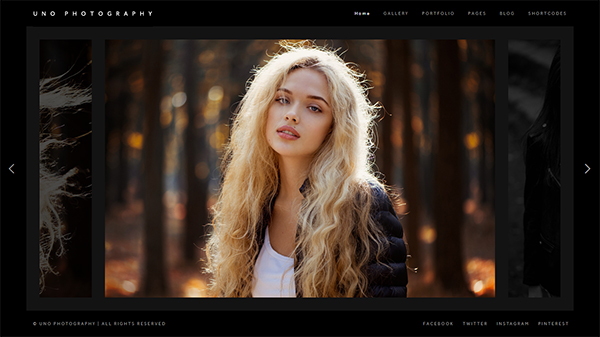 Uno - Creative Photography WordPress Theme